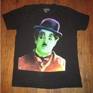 Other - Charlie Chaplin Colorful Shirt Size Large